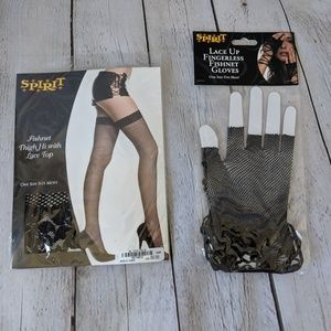 🆕NWT Fishnet Stockings and gloves, Halloween